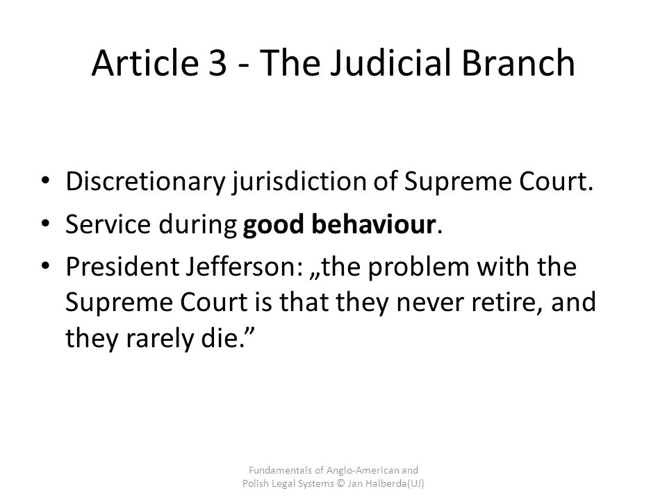 Article 3 - The Judicial Branch