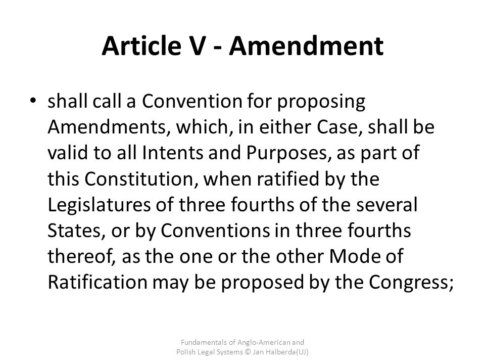 Article V - Amendment
