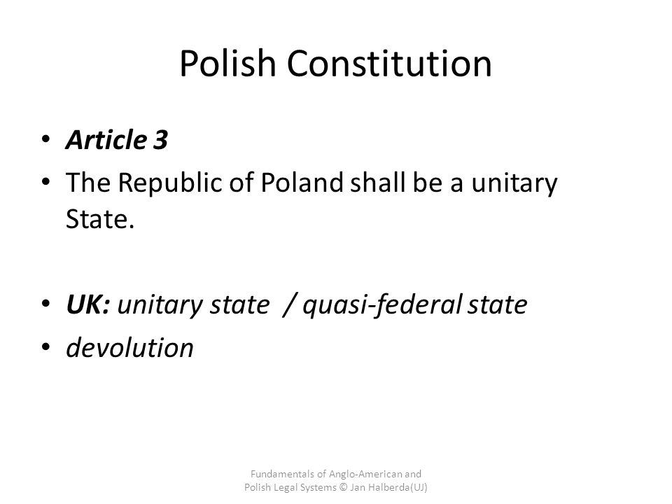 Polish Constitution Article 3