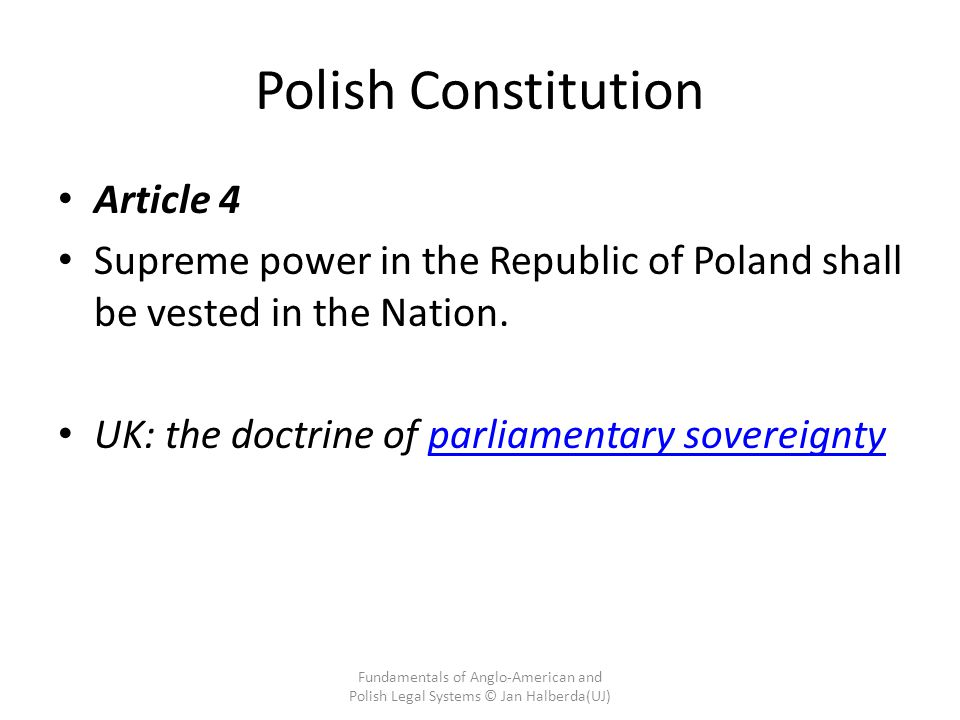 Polish Constitution Article 4