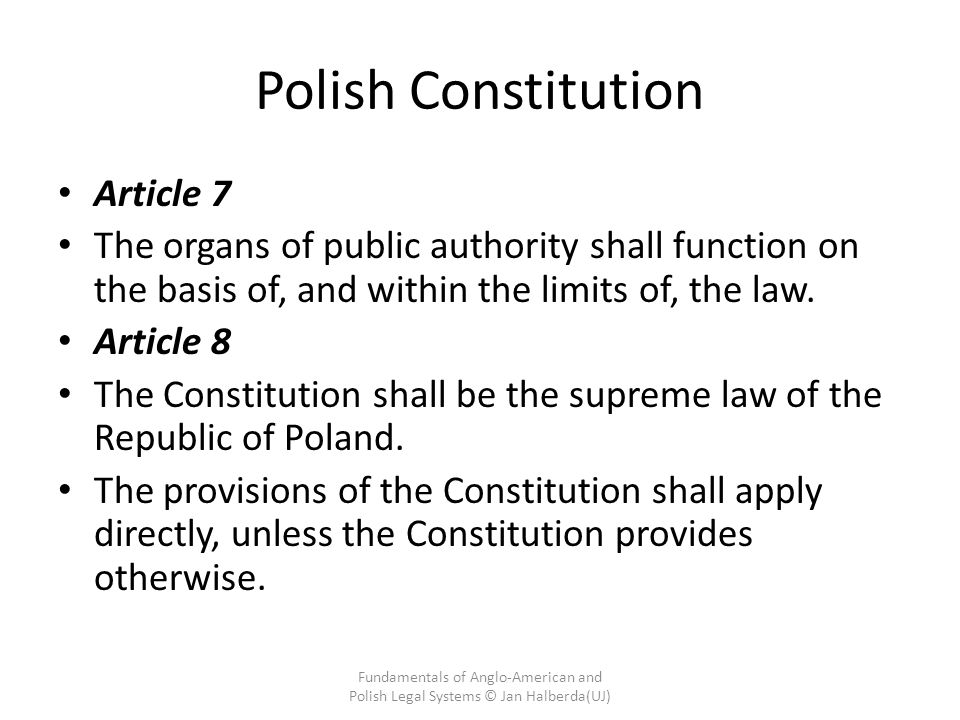 Polish Constitution Article 7