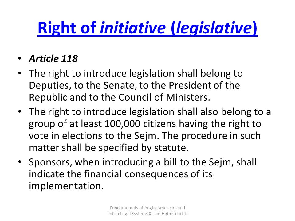 Right of initiative (legislative)