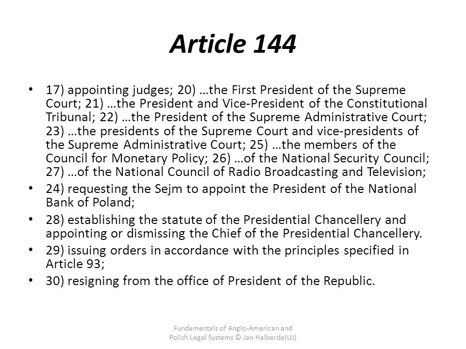 Article 144