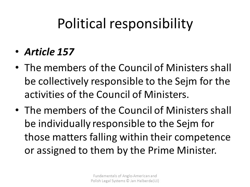 Political responsibility