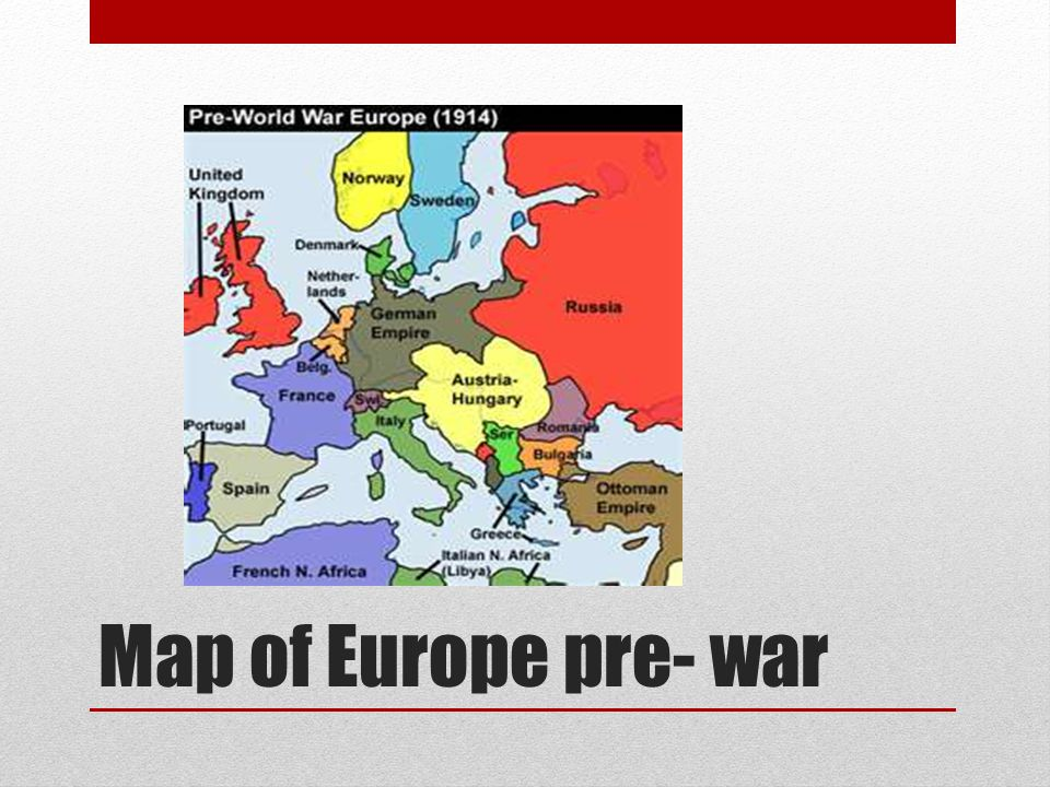 Map of Europe pre- war