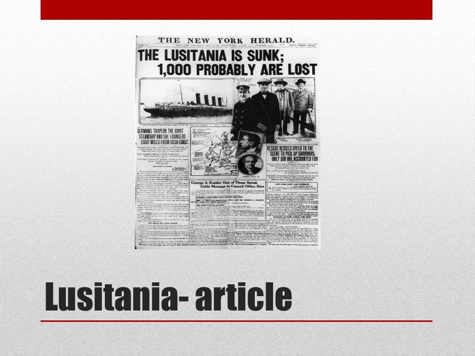 Lusitania- article