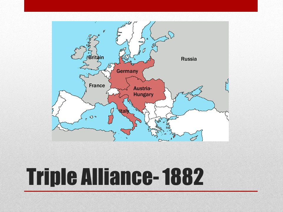 Triple Alliance- 1882