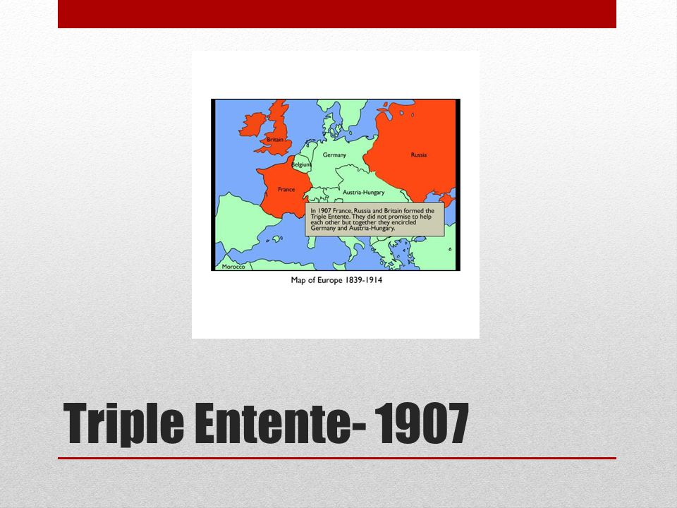 Triple Entente- 1907
