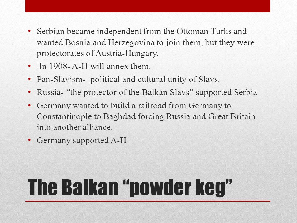The Balkan powder keg
