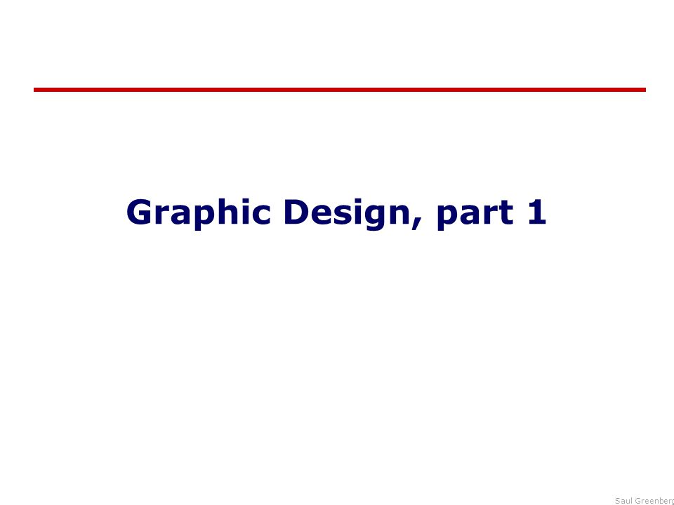 Graphic Design, part 1