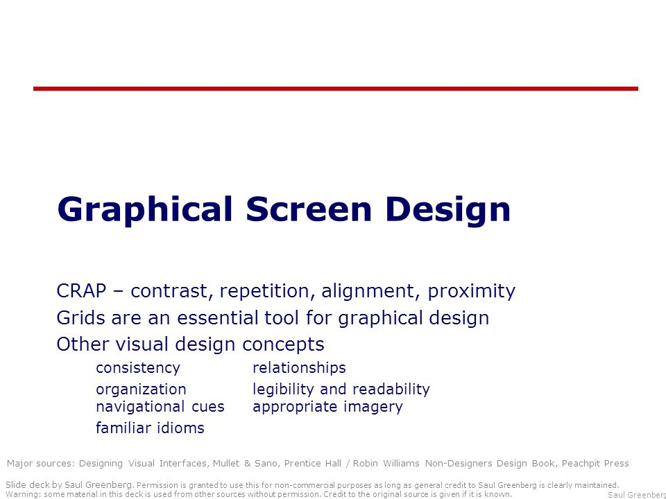 Graphical Screen Design