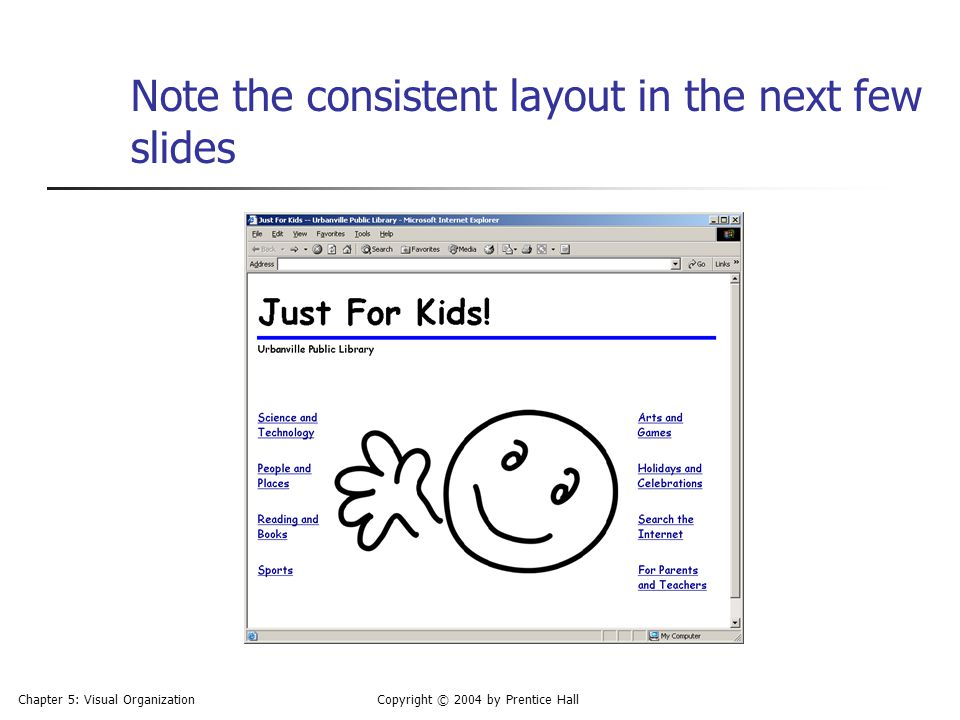 Note the consistent layout in the next few slides