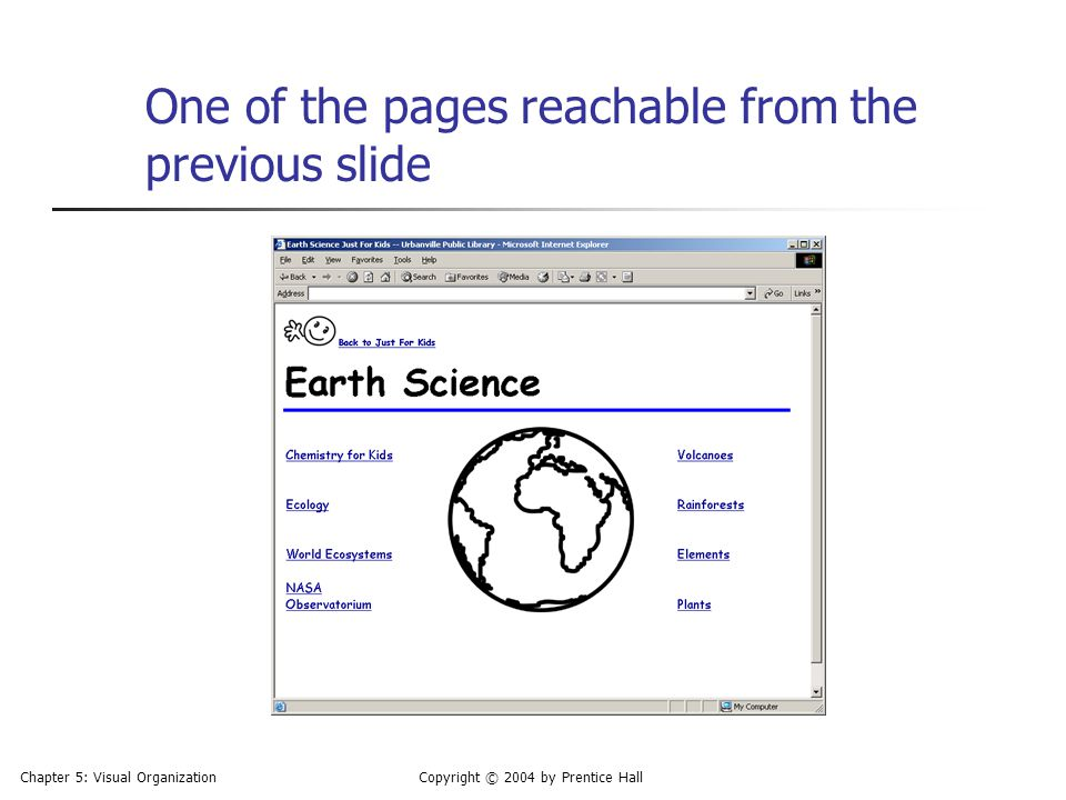 One of the pages reachable from the previous slide