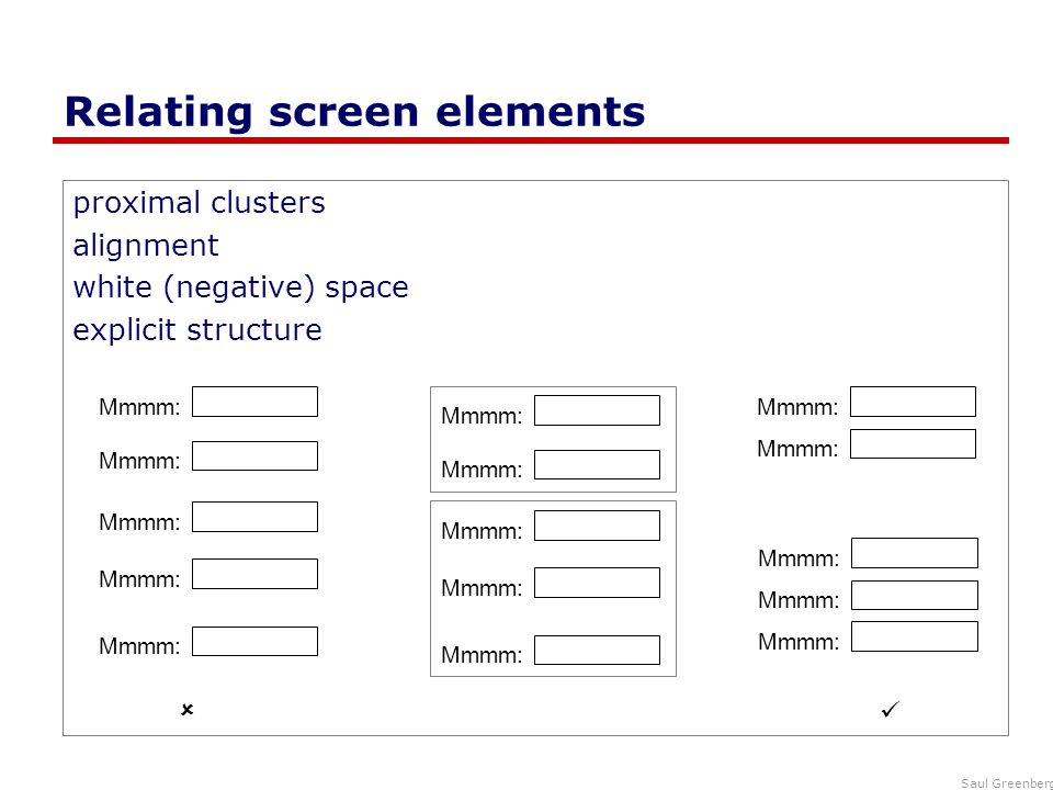 Relating screen elements