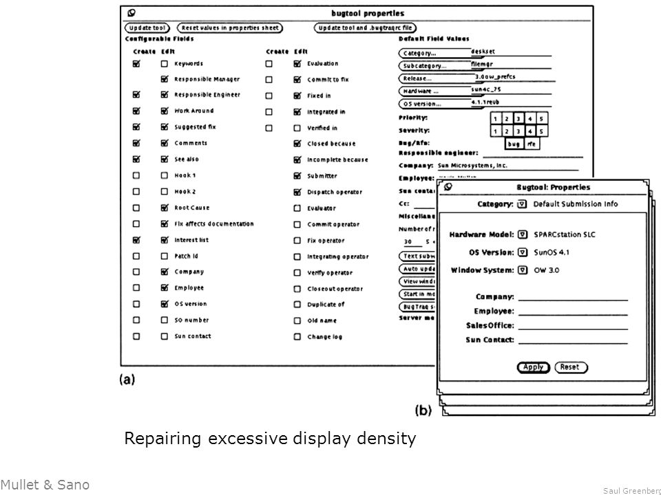 Repairing excessive display density