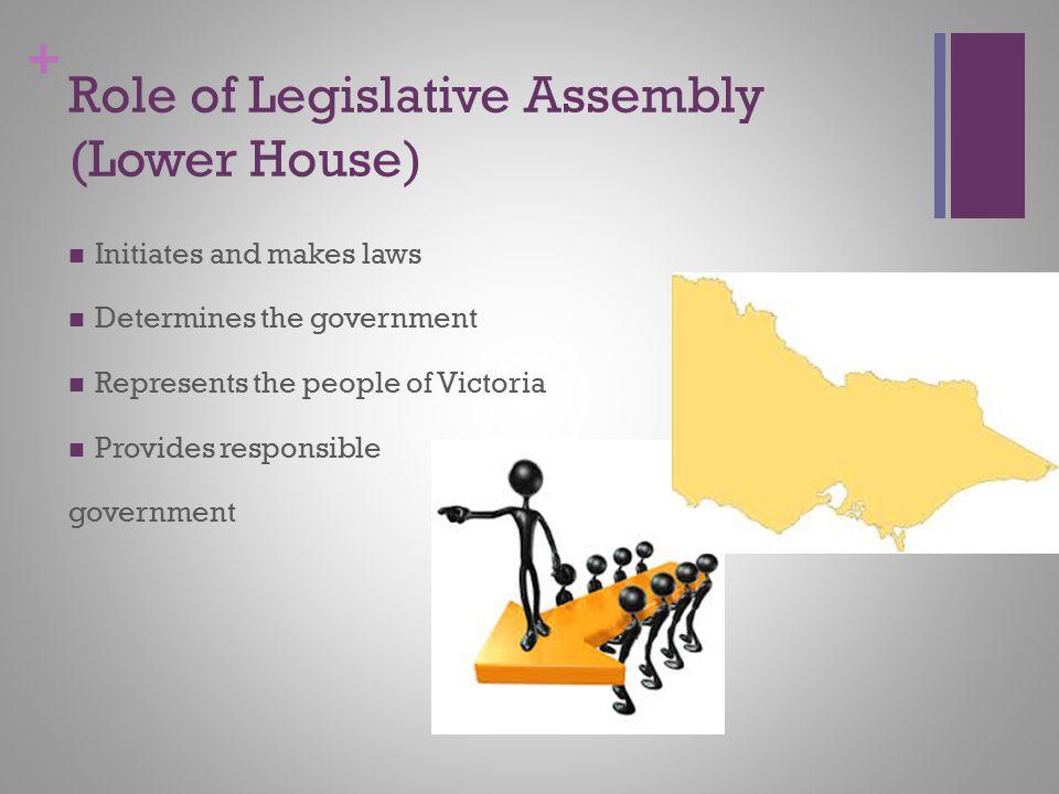 Role of Legislative Assembly (Lower House)
