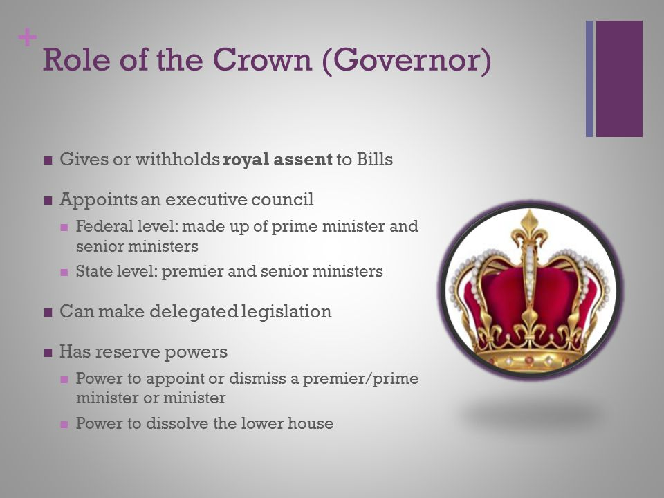 Role of the Crown (Governor)