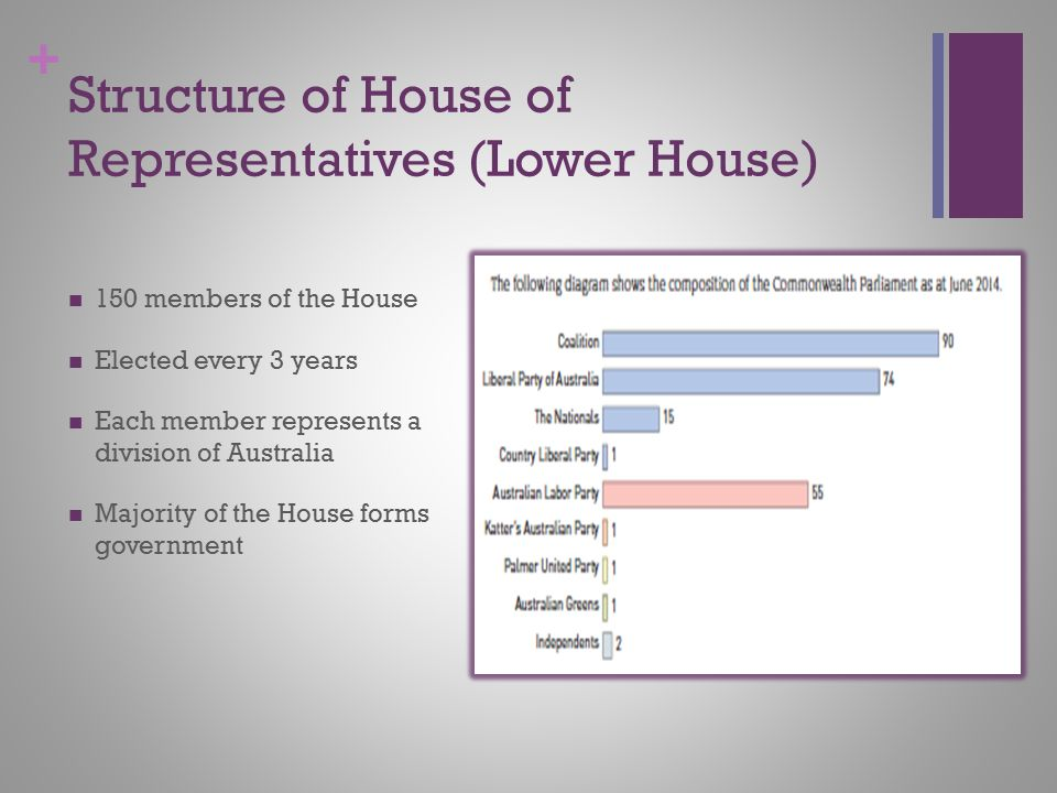 Structure of House of Representatives (Lower House)