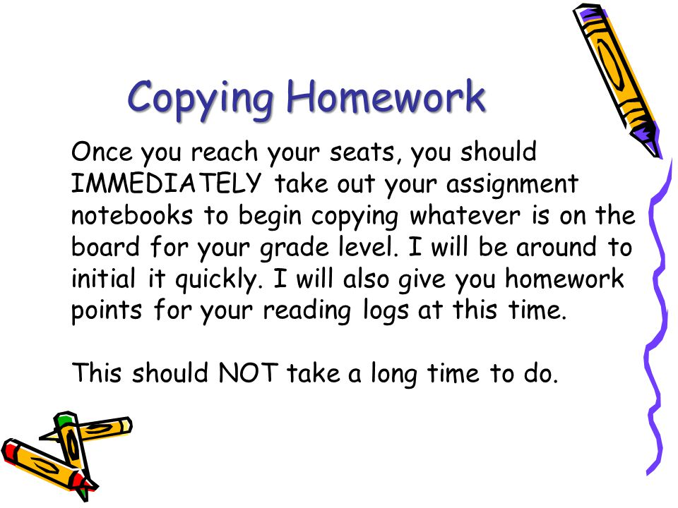 Copying Homework