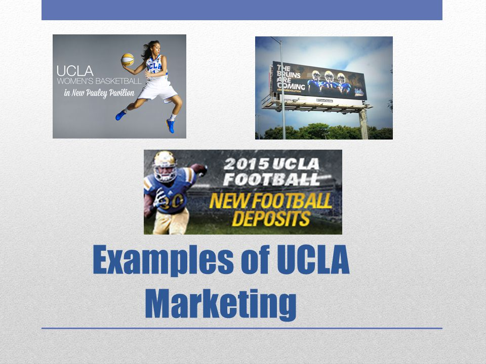 Examples of UCLA Marketing