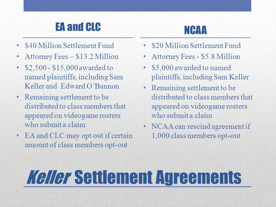Keller Settlement Agreements