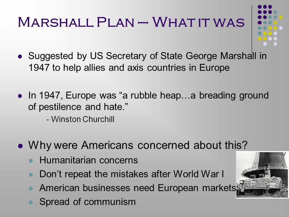 Marshall Plan – What it was