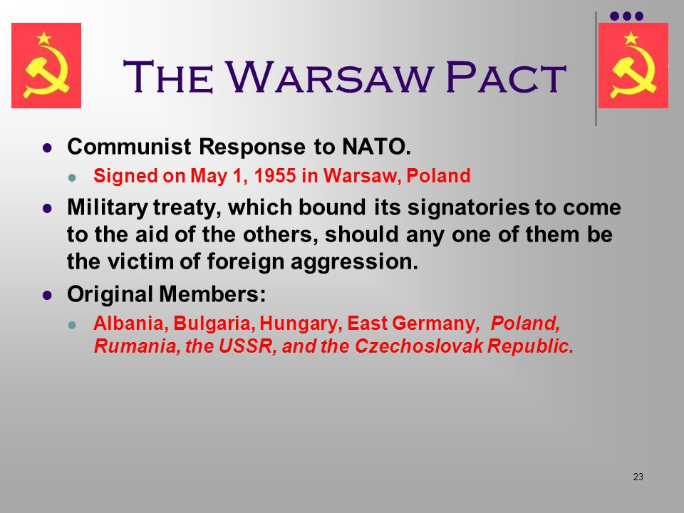 The Warsaw Pact Communist Response to NATO.