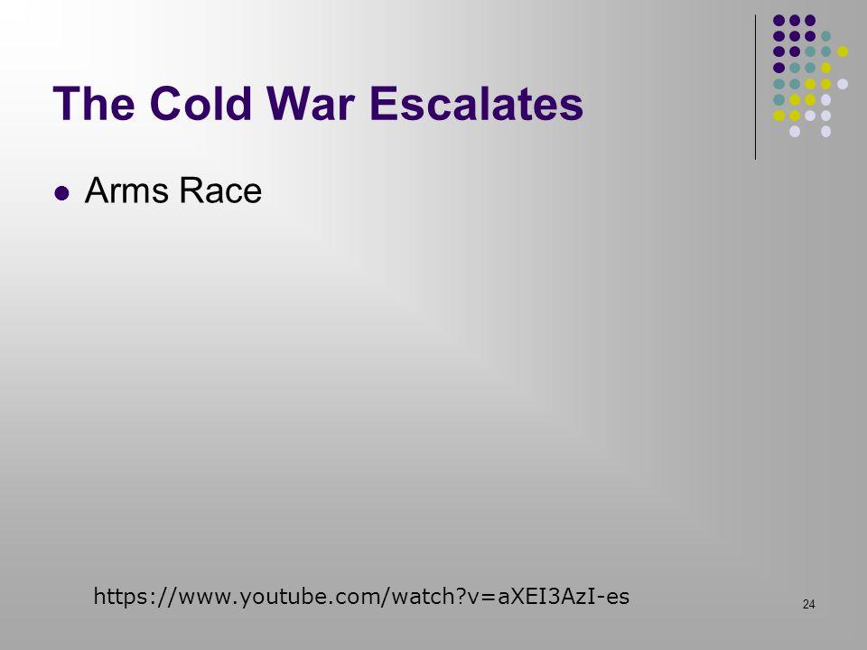 The Cold War Escalates Arms Race