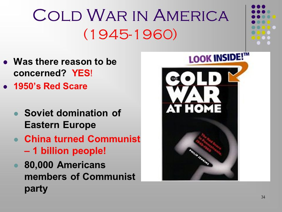 Cold War in America (1945-1960) Soviet domination of Eastern Europe