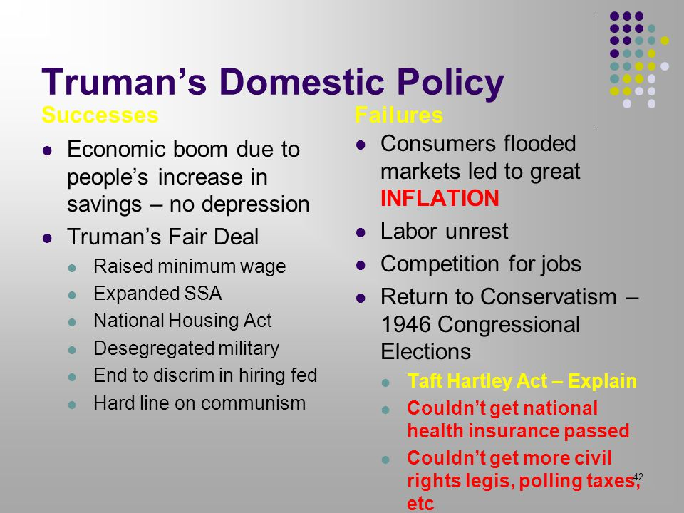 Truman's Domestic Policy