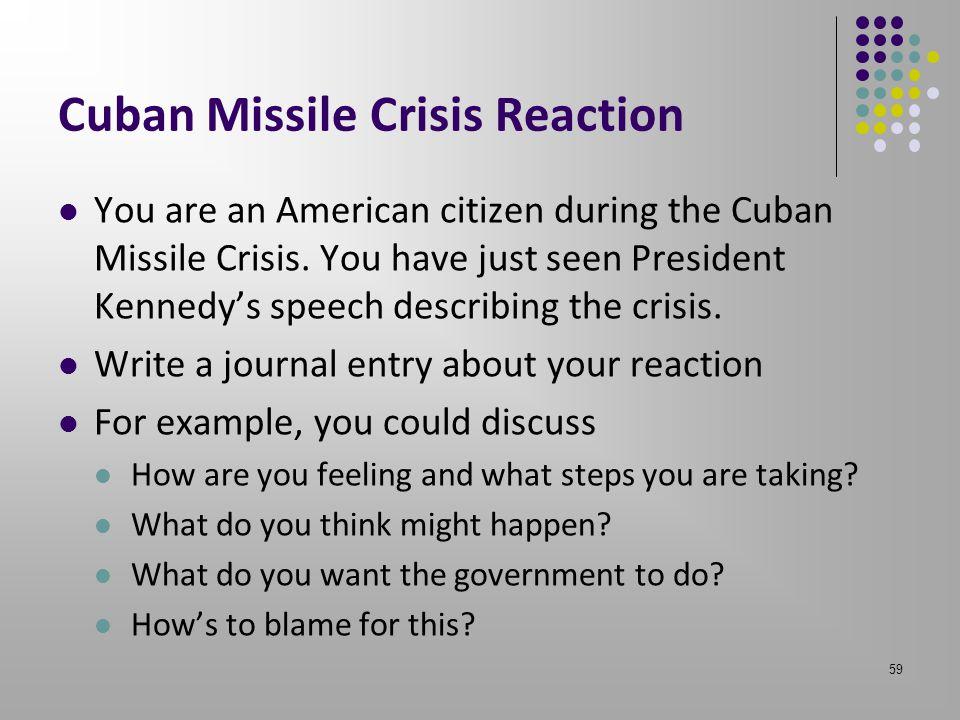 Cuban Missile Crisis Reaction