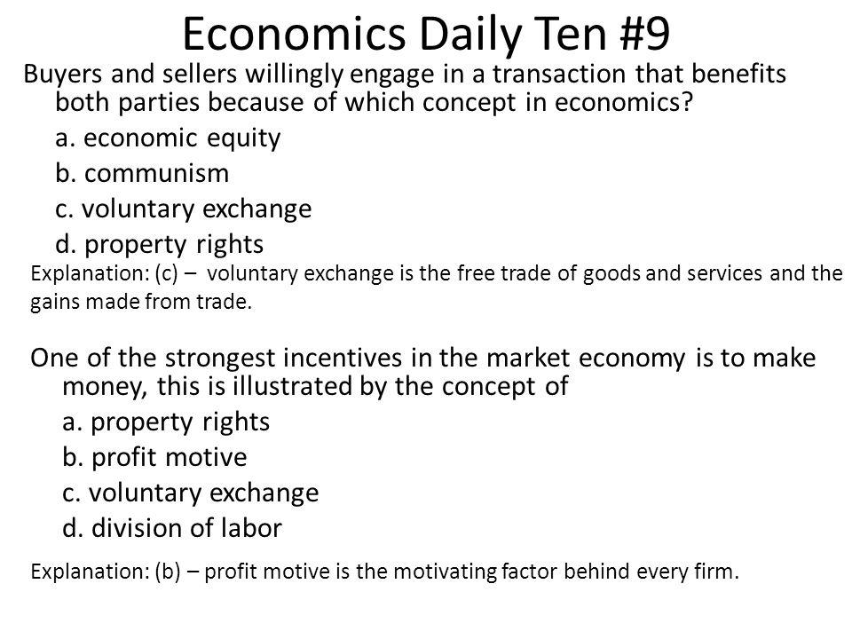 Economics Daily Ten #9