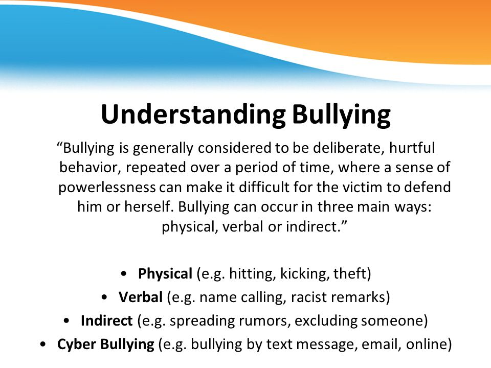 Understanding Bullying