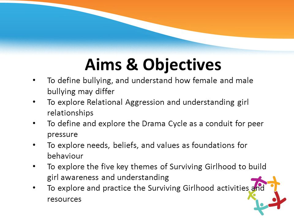 Aims & Objectives To define bullying, and understand how female and male bullying may differ.