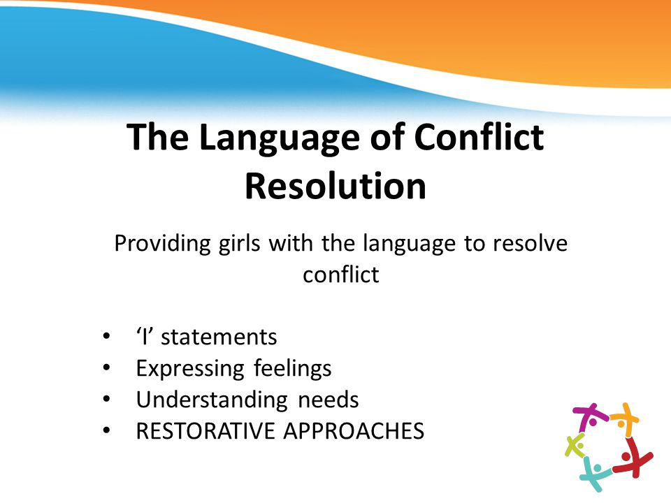 The Language of Conflict Resolution