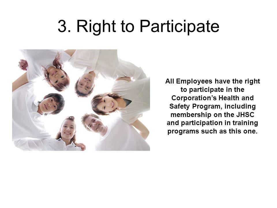 3. Right to Participate