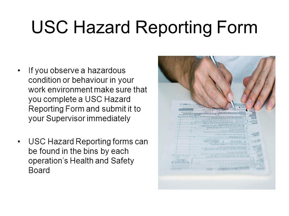 USC Hazard Reporting Form