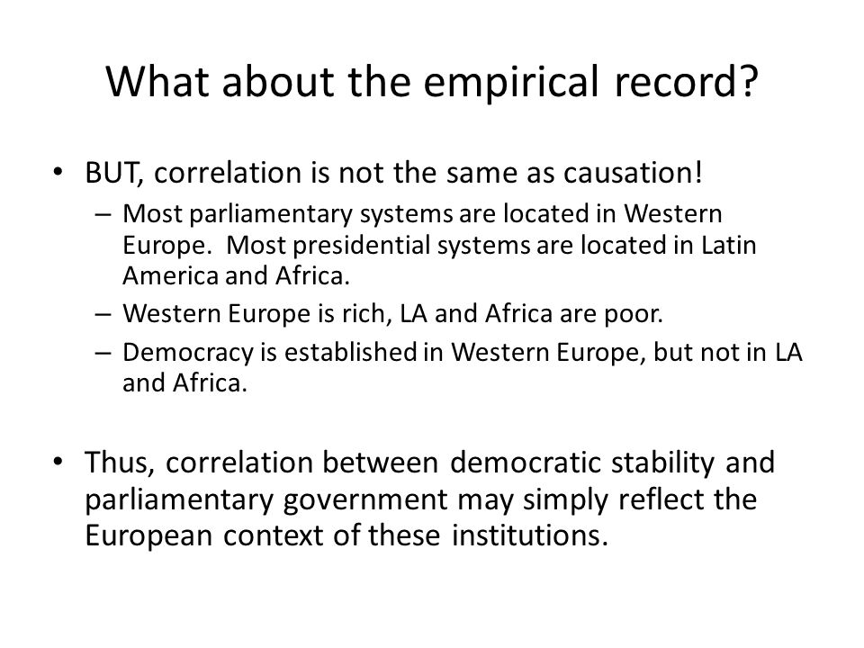 What about the empirical record