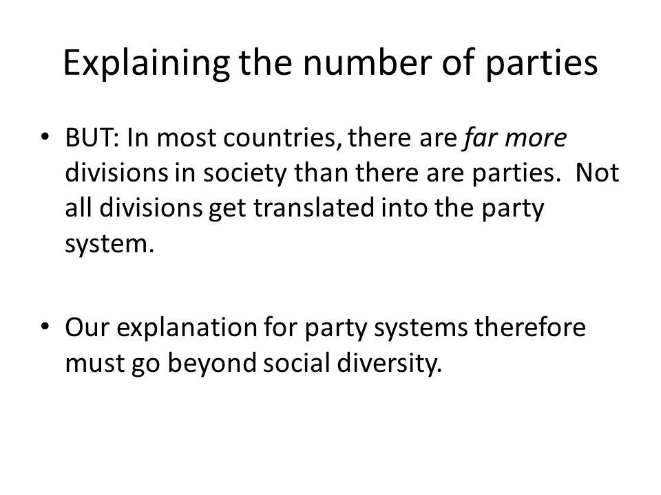 Explaining the number of parties