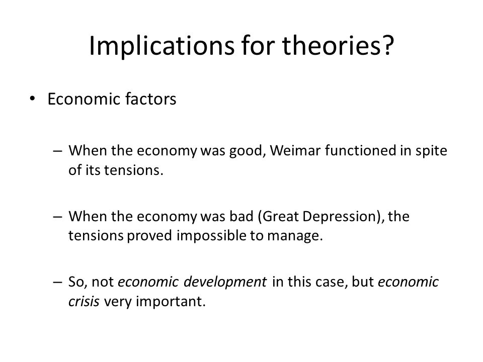 Implications for theories