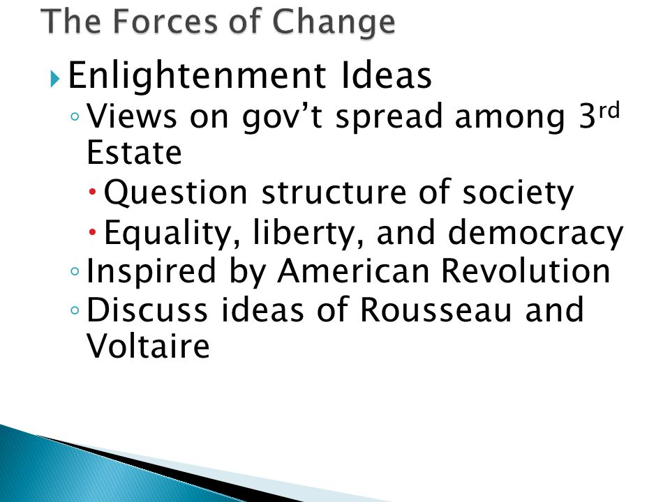 Enlightenment Ideas The Forces of Change