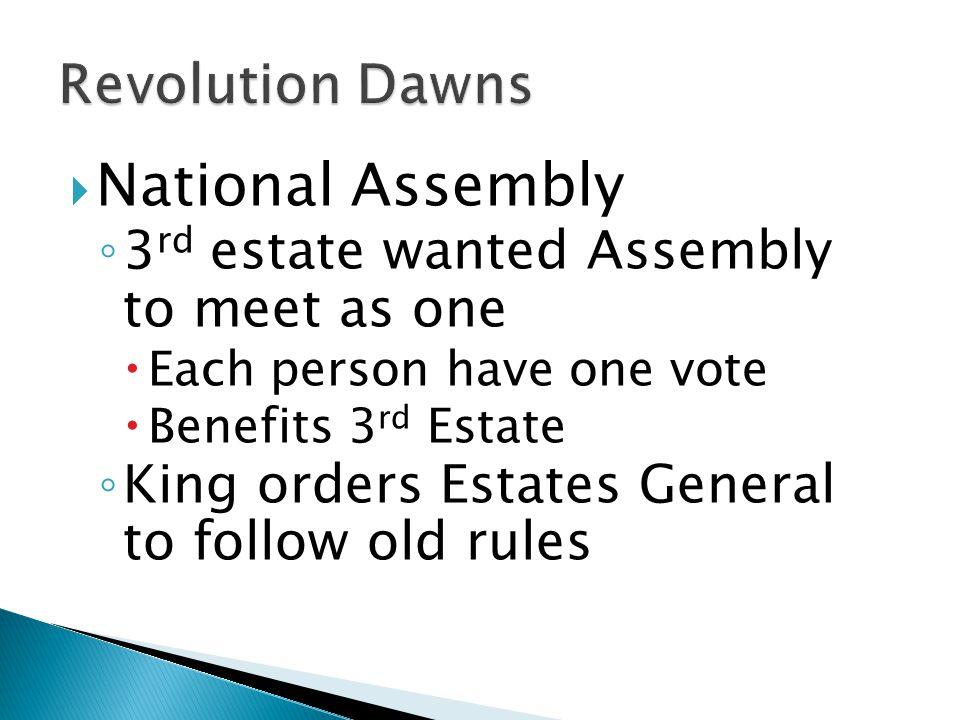 National Assembly Revolution Dawns