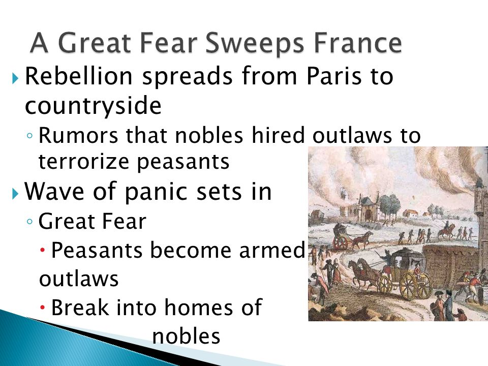 A Great Fear Sweeps France