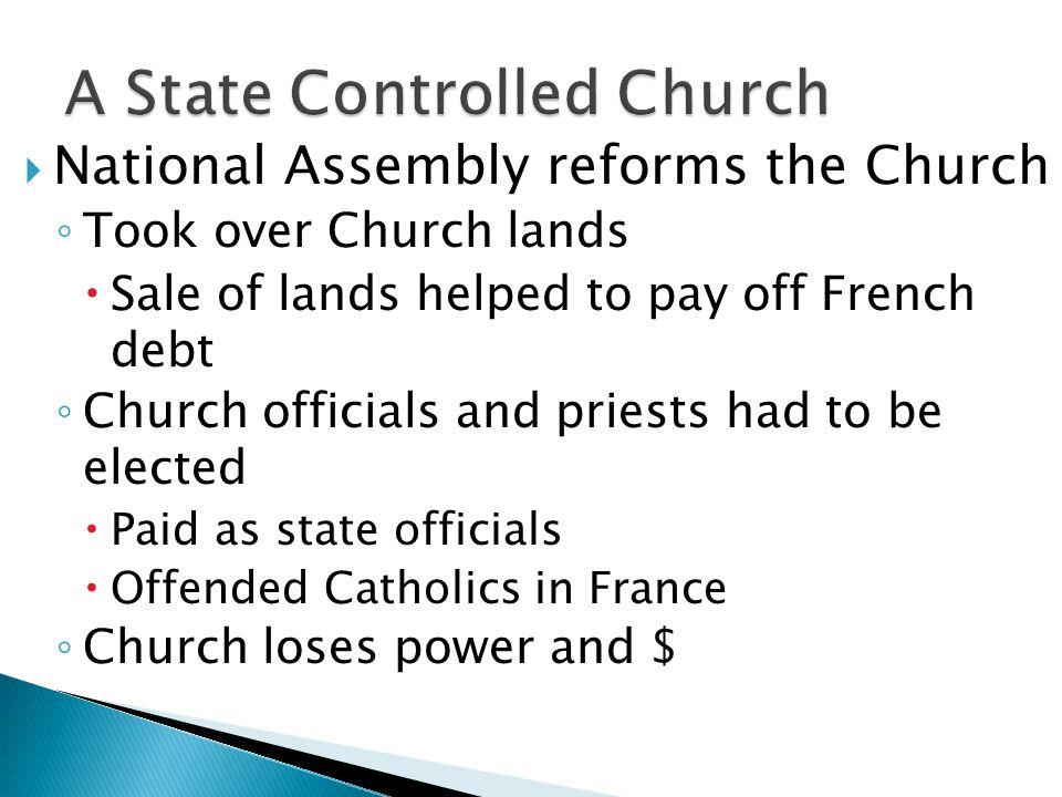 A State Controlled Church