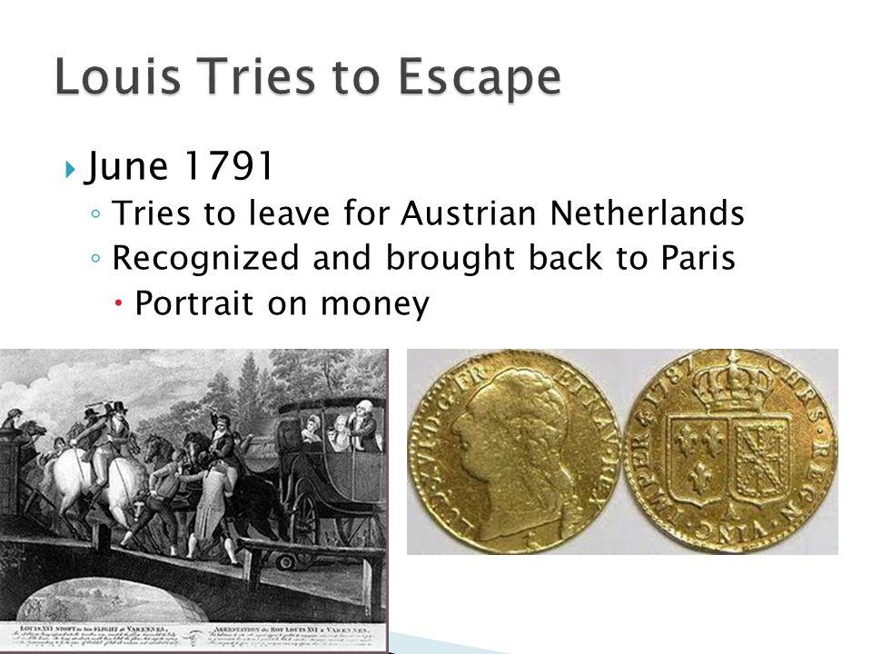 Louis Tries to Escape June 1791