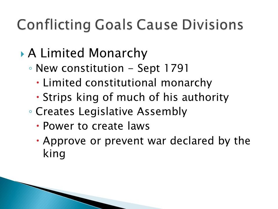 Conflicting Goals Cause Divisions