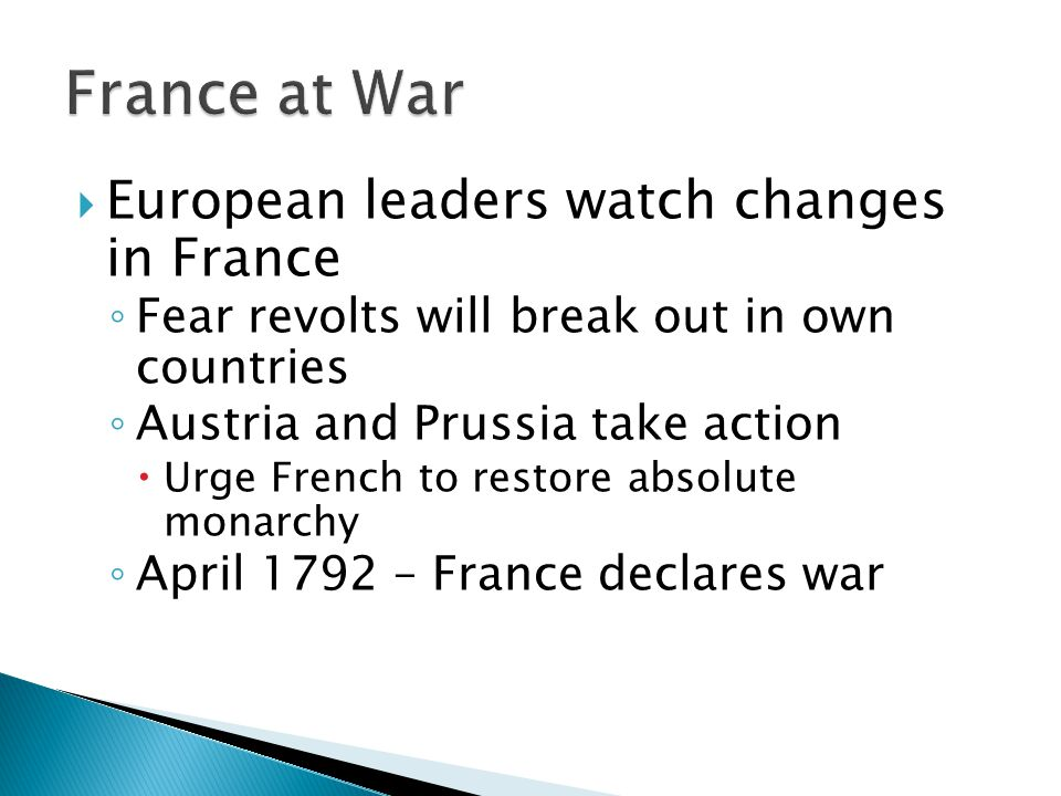 France at War European leaders watch changes in France