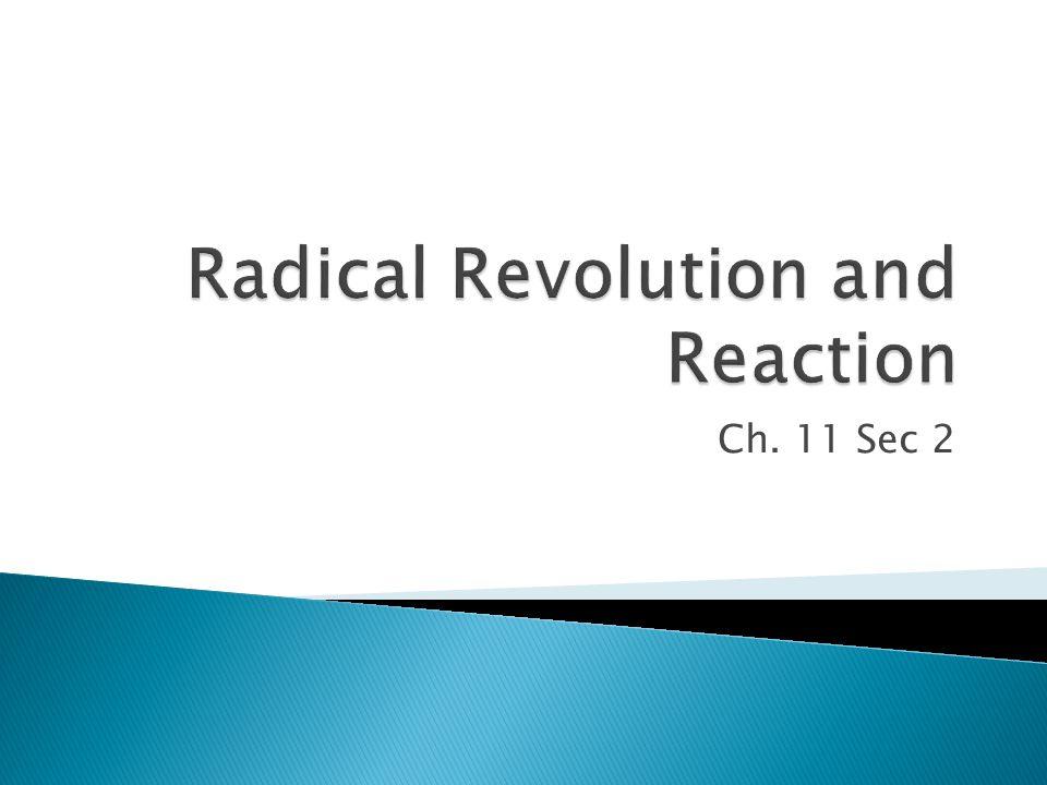 Radical Revolution and Reaction