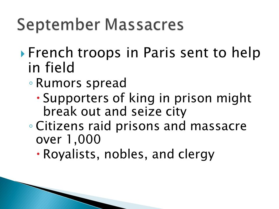 September Massacres French troops in Paris sent to help in field