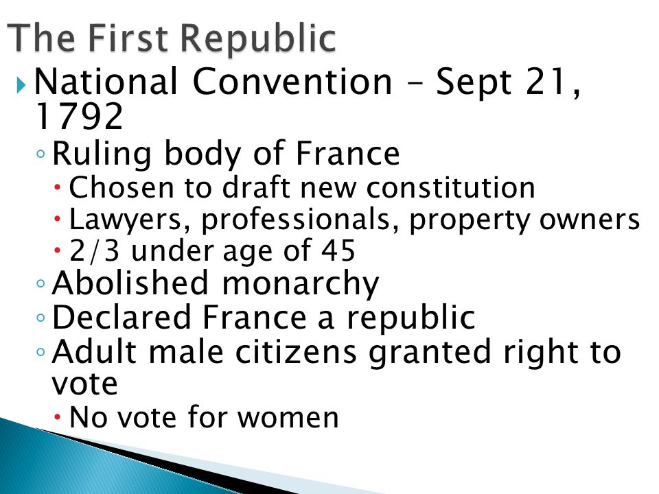 The First Republic National Convention – Sept 21, 1792